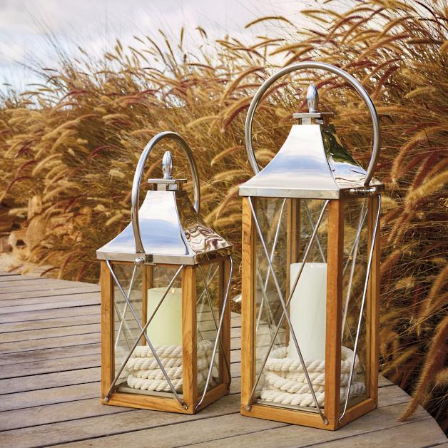 8 Beach Worthy Lanterns to Illuminate your Coastal Home #beachnights #beachlights #beachlanterns #coastallanterns #SevilleLantern