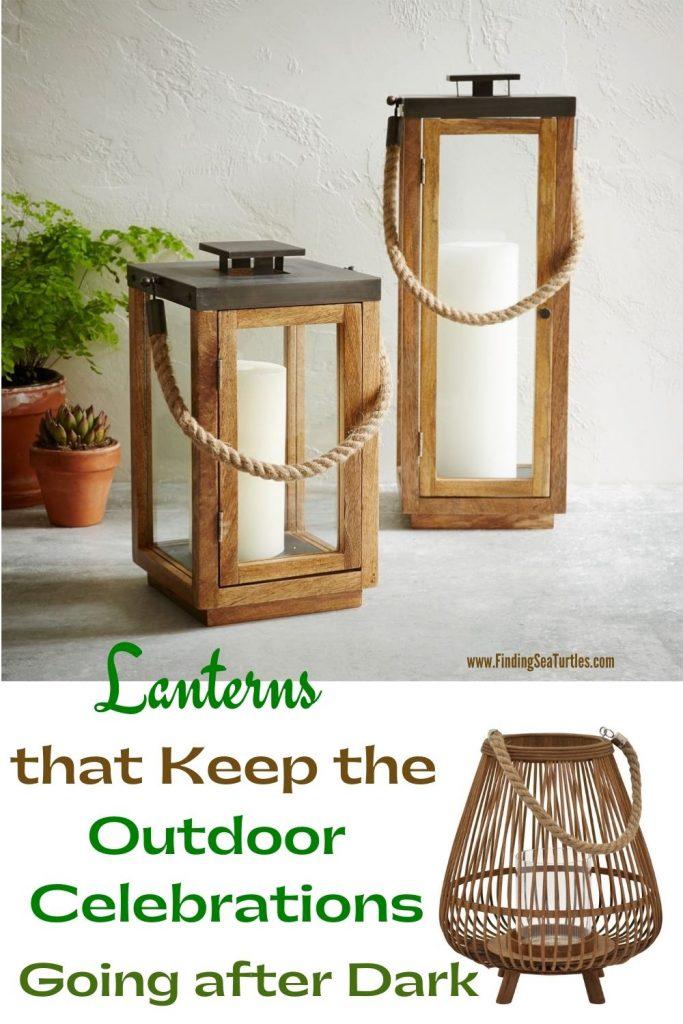 Lanterns that Keep the Outdoor Celebrations Going After Dark #Lanterns #RattanLanterns #Patio #Porch #Deck #OutdoorLights #beachlanterns #CoastalLanterns #CoastalLights #SummerHouse #BeachHouse #CoastalLiving