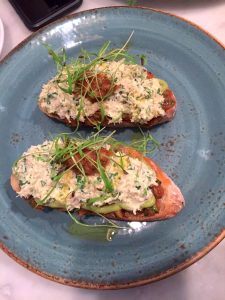 Mayfair Chippy - Cornish Crab And Avocado On Toast #london