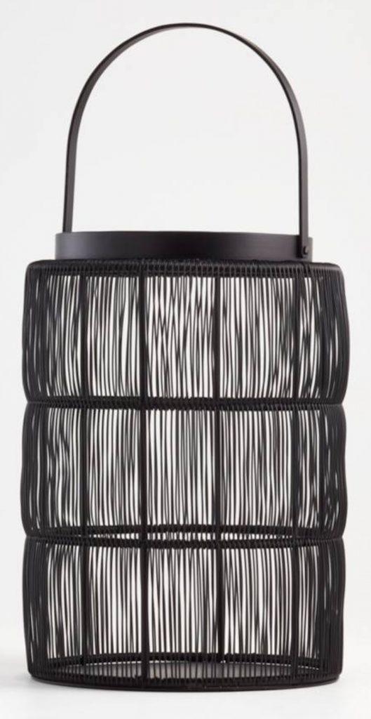 Ora Large Black Wire Lantern #Lanterns #RattanLanterns #Patio #Porch #Deck #OutdoorLights #beachlanterns #CoastalLanterns #CoastalLights #SummerHouse #BeachHouse #CoastalLiving