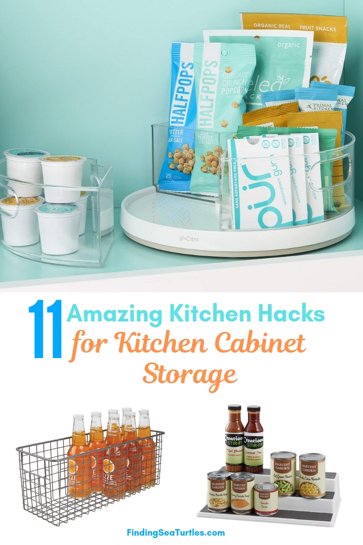 11 Amazing Kitchen Hacks For Kitchen Cabinet Storage #Organize #Organization #OrganizedKitchen #Kitchen #KitchenCabinets #KitchenStorage #CabinetStorage #Storage