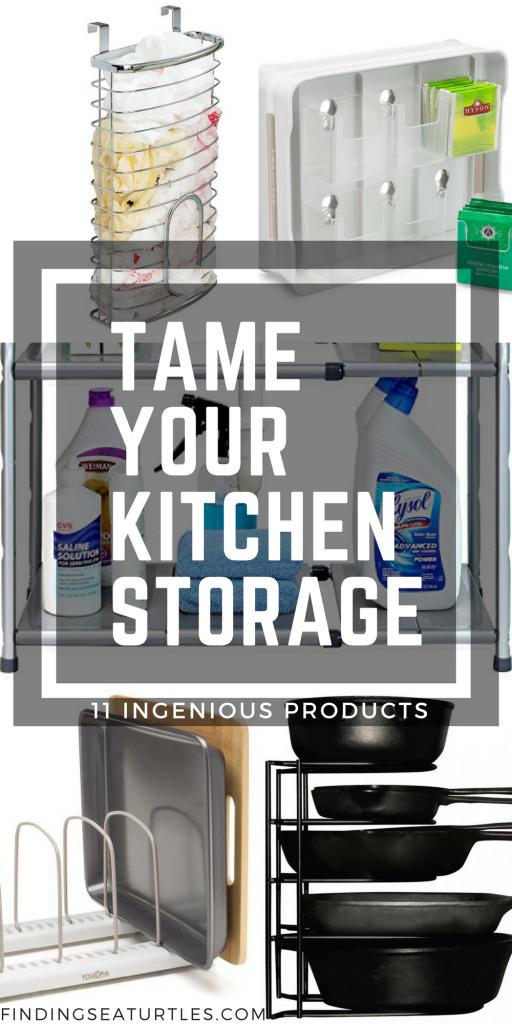 11 Things to Help You Maximize Your Kitchen Cabinet Storage #organize #kitchenorganization #diy #storage