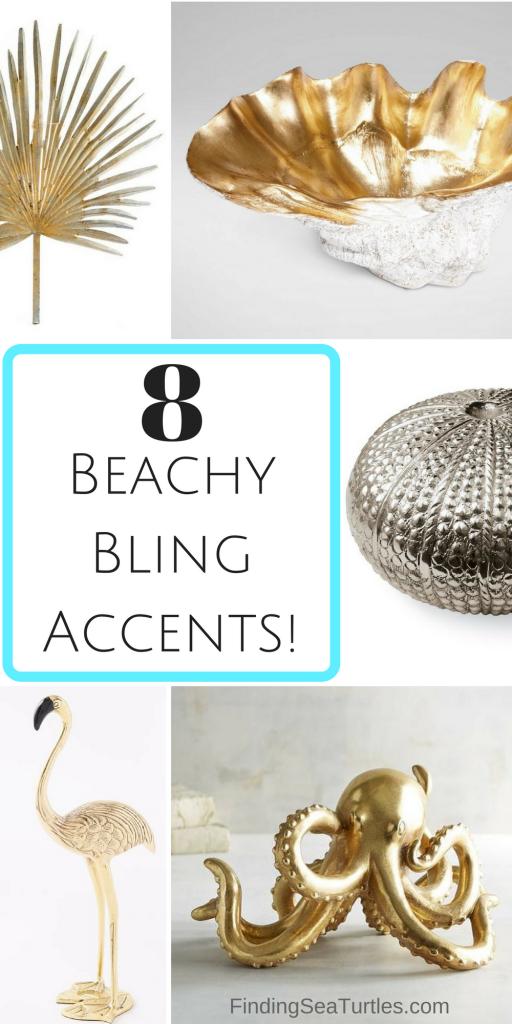 8 Glamorous Metallic Accents to Decorate Your Coastal Home #CoastalDecor #CoastalStyle #BeachHouse