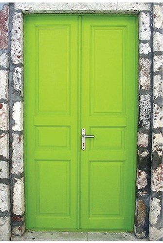 9 Stunningly Bold Coastal Front Doors - Lime Green Door #BoldDoors #ColorfulDoors #BrightDoors #CoastalDoors #Doors