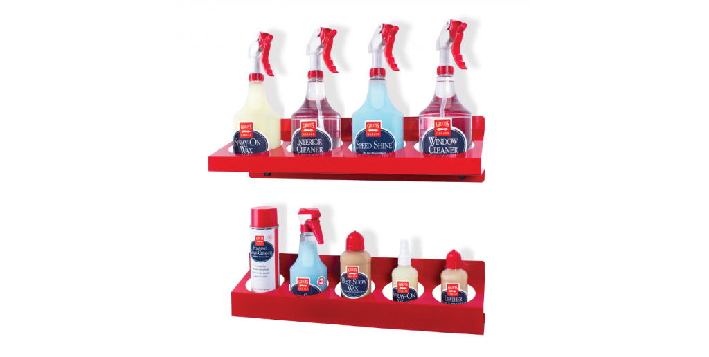 25 Organization Hacks for Your Garage Workshop - 35 Ounce Bottle Rack #garage #organize #tool #workshop #hack