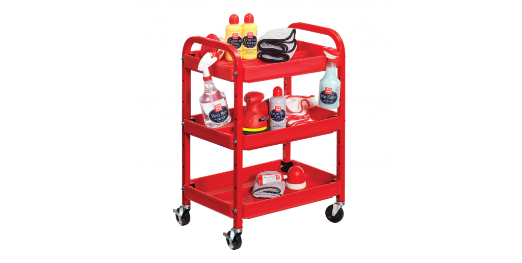 25 Organization Hacks for Your Garage Workshop - Compact Detailing Cart #garage #organize #workshop #tools #hack