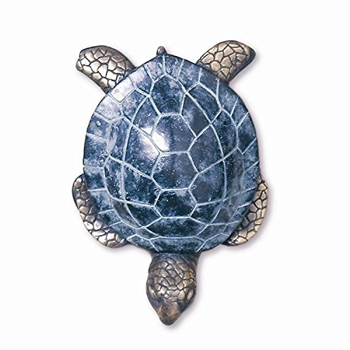 Curb Appeal DIY Embellish Your Coastal Front Door - Brass Sea Turtle Beach Tiki Door Knocker #CoastalDecor #BeachDecor #DIY #CurbAppeal #FrontDoor