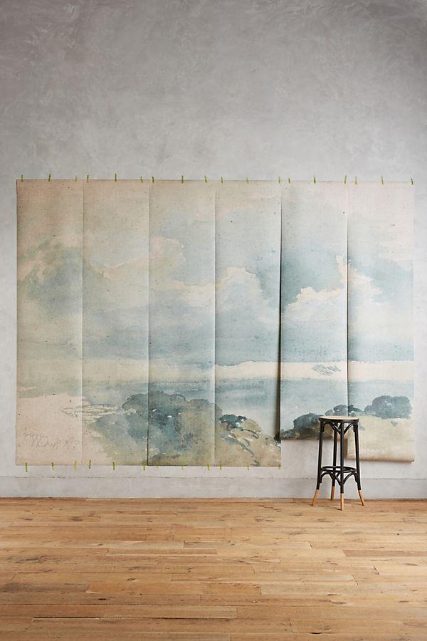 16 Big Bold Art Pieces to Get Your Wall Noticed #bigart #largeart #coastalart #wallart #coastalcirrusmural