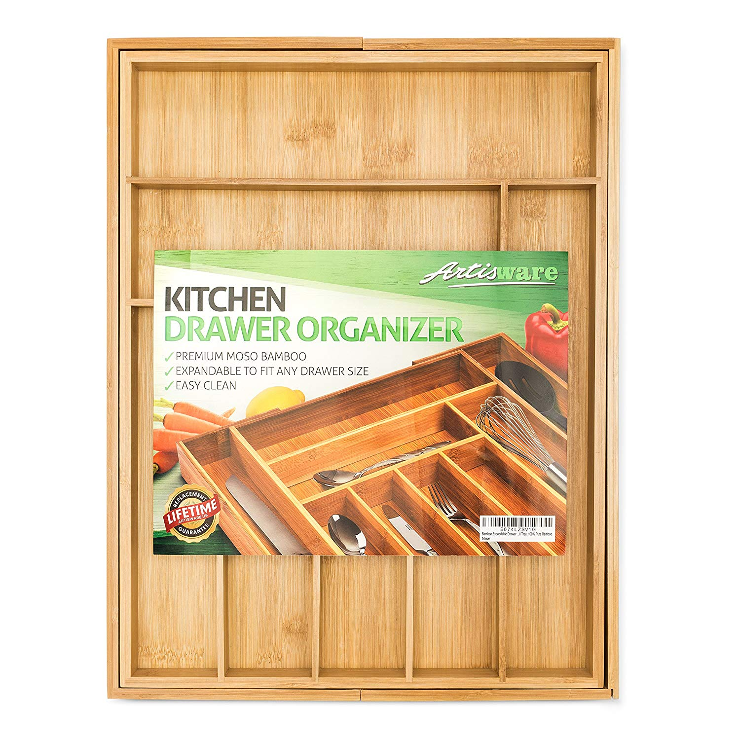 11 Things to Help You Maximize Your Kitchen Cabinet Storage Expandable Drawer Organizer Tray #Organize #Organization #OrganizedKitchen #Kitchen #KitchenCabinets #KitchenStorage #CabinetStorage #Storage