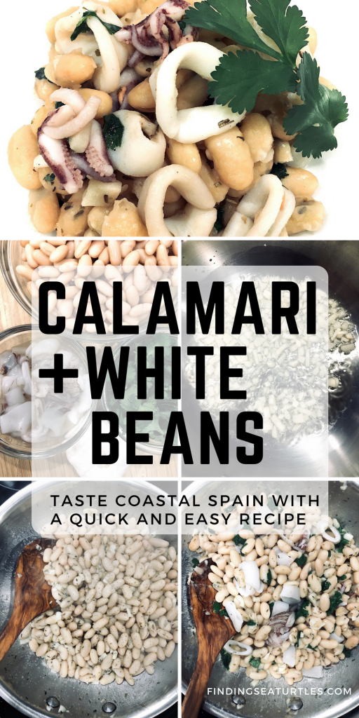 A Quick and Easy Spanish Seafood Dish - Calamari and White Beans