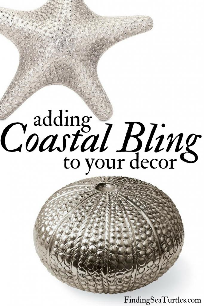 8 Glamorous Metallic Accents to Decorate Your Coastal Home #CoastalDecor #CoastalStyle #BeachDecor