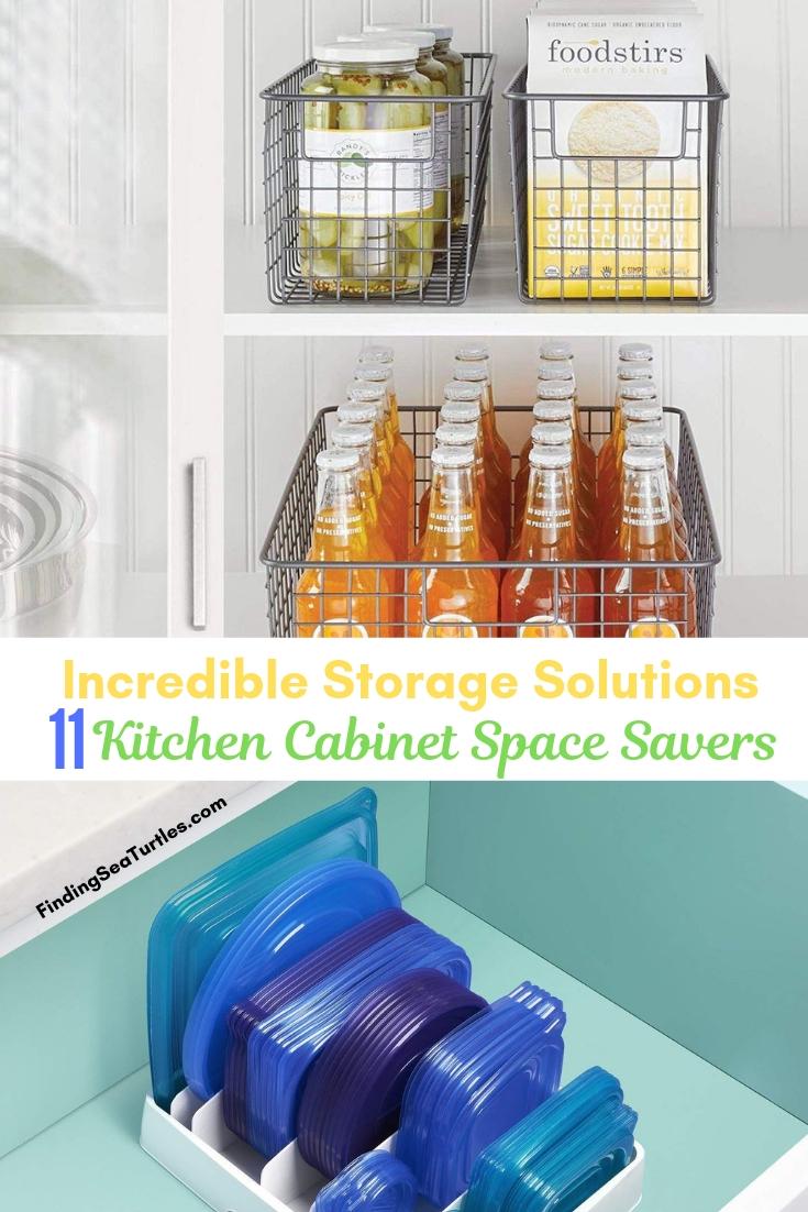 Incredible Storage Solutions 11 Kitchen Cabinet Space Savers #Organize #Organization #OrganizedKitchen #Kitchen #KitchenCabinets #KitchenStorage #CabinetStorage #Storage