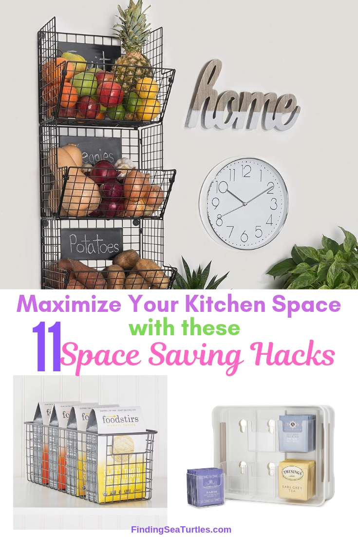 Maximize Your Kitchen Space With These 11 Space Saving Hacks #Organize #Organization #OrganizedKitchen #Kitchen #KitchenCabinets #KitchenStorage #CabinetStorage #Storage