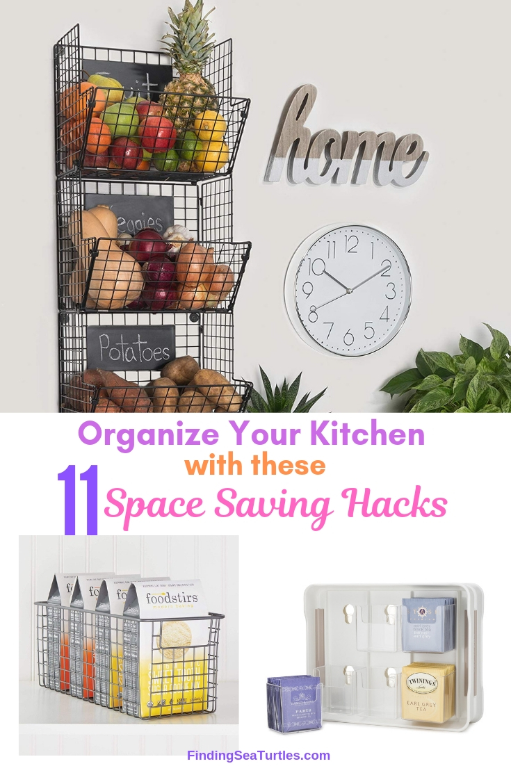 Organize Your Kitchen With These 11 Space Saving Hacks #Organize #Organization #OrganizedKitchen #Kitchen #KitchenCabinets #KitchenStorage #CabinetStorage #Storage