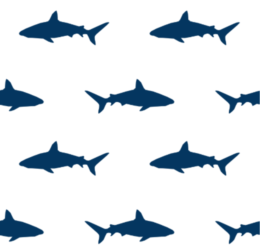 10 Cool Ways to Let Some Shark! Into Your Home - Shark Fabric by Charlotte Winter #sharkweek #beachhouse #coastaldecor #fabric