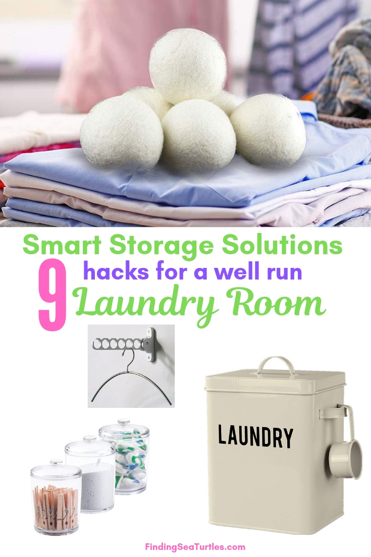 Smart Storage Solutions 9 Hacks For A Well Run Laundry Room #Organize #Organization #OrganizedLaundry #Laundry #LaundryRoom #LaundrySupplies #LaundryStorage #Storage #SaveTime #SaveMoney