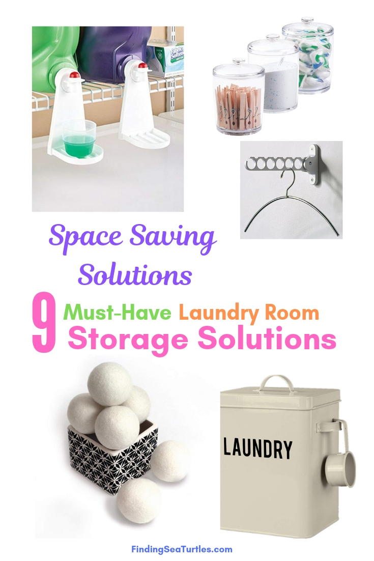 Space Saving Solutions 9 Must Have Laundry Room Storage Solutions #Organize #Organization #OrganizedLaundry #Laundry #LaundryRoom #LaundrySupplies #LaundryStorage #Storage #SaveTime #SaveMoney
