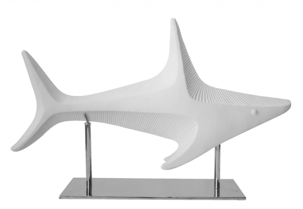 10 Cool Ways to Let Some Shark! Into Your Home - Shark Menagerie by Jonathan Adler #sharkweek #shark #beachdecor #beachhouse #coastaldecor