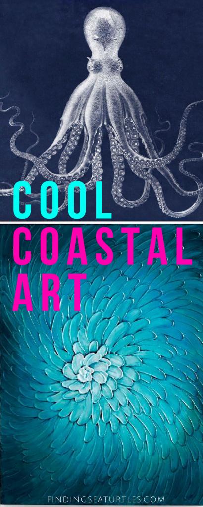 Big Bold Coastal Art Pieces to Get Your Wall Noticed #bigart #coastaldecor #coastalhome #homedecor #wallart