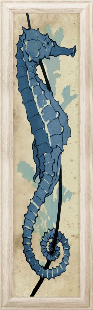 16 Big Bold Art Pieces to Get Your Wall Noticed #bigart #largeart #coastalart #wallart #Lecareseahorse
