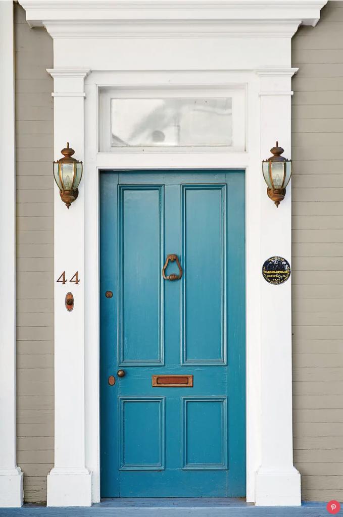 9 Stunningly Bold Coastal Front Doors - Denim Blue #BoldDoors #ColorfulDoors #BrightDoors #CoastalDoors #BlueDoors