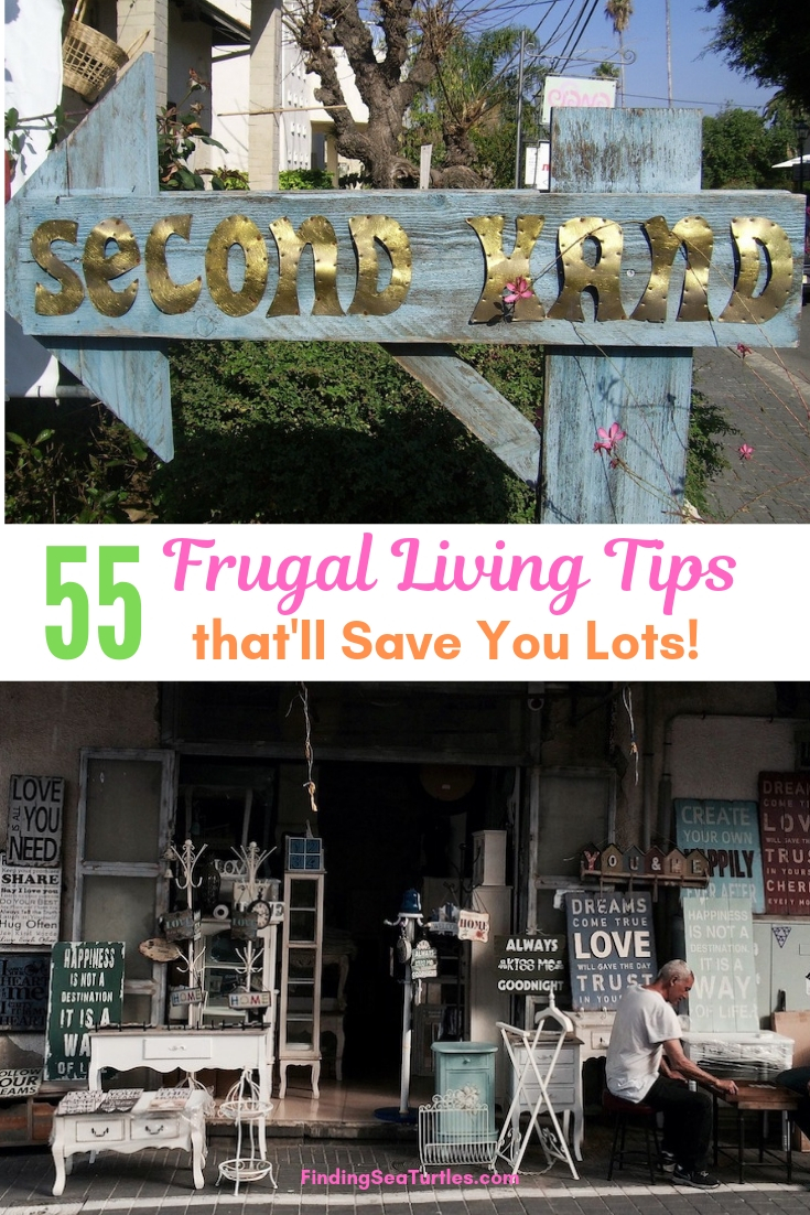 55 Frugal Living Tips That'll Save You Lots! #Frugal #SaveMoney #FrugalLiving #Budget #MoneySaving #Saver #MoneySavingTips #Thrifty #FamilyBudget #LiveFrugally #DIY