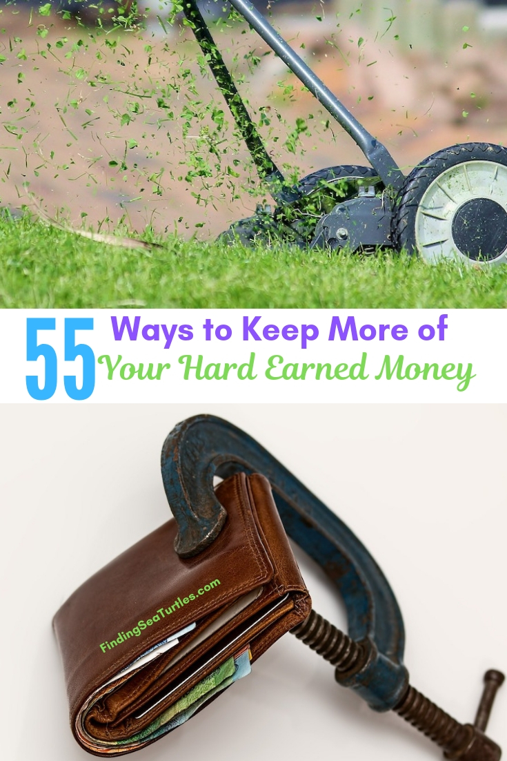 55 Ways To Keep More Of Your Hard Earned Money #Frugal #SaveMoney #FrugalLiving #Budget #MoneySaving #Saver #MoneySavingTips #Thrifty #FamilyBudget #LiveFrugally #DIY