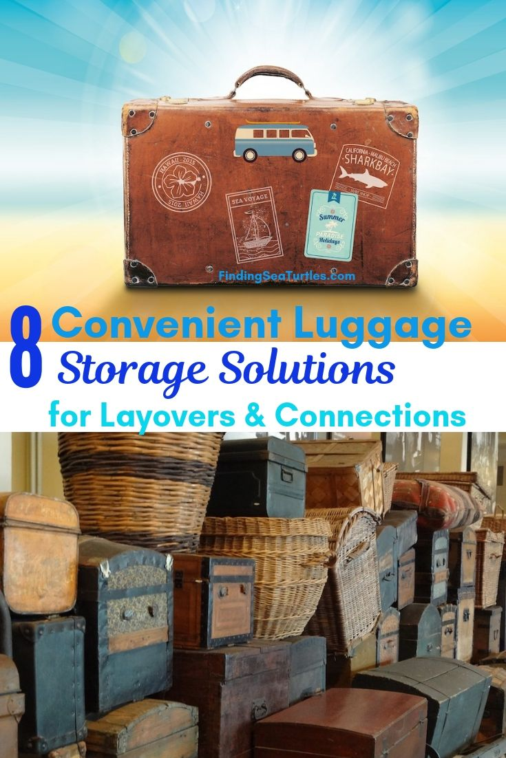 8 Convenient Luggage Storage Solutions For Layovers & Connections #LuggageStorage #ShortTermLuggageStorage #Travel #TravelLuggageStorage #StoreYourLuggage #LuggageTravelStorage #AirportLuggageStorage #TrainStationLuggageStorage