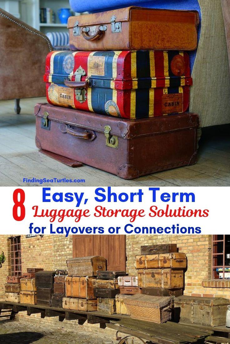 8 Easy Short Term Luggage Storage Solutions For Layovers Connections #LuggageStorage #ShortTermLuggageStorage #Travel #TravelLuggageStorage #StoreYourLuggage #LuggageTravelStorage #AirportLuggageStorage #TrainStationLuggageStorage