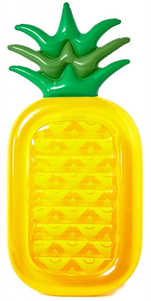 Summer Family Fun Inflatable Pineapple Pool Float #PoolFloat #SummerFun #SummerPoolFun #FamilyFun
