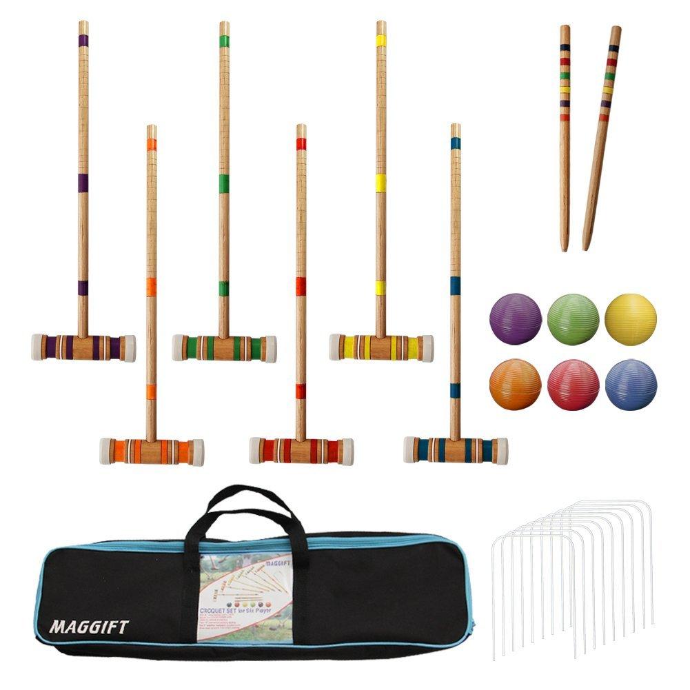 Summer Family Fun Maggift Player Croquet Set #SummerFun #SummerGames #Summer #SummerCroquet #LawnGames
