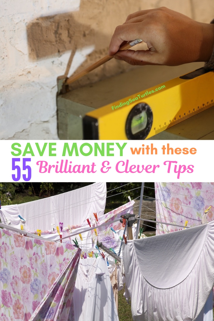 SAVE MONEY With These 55 Brilliant & Clever Tips #Frugal #SaveMoney #FrugalLiving #Budget #MoneySaving #Saver #MoneySavingTips #Thrifty #FamilyBudget #LiveFrugally #DIY