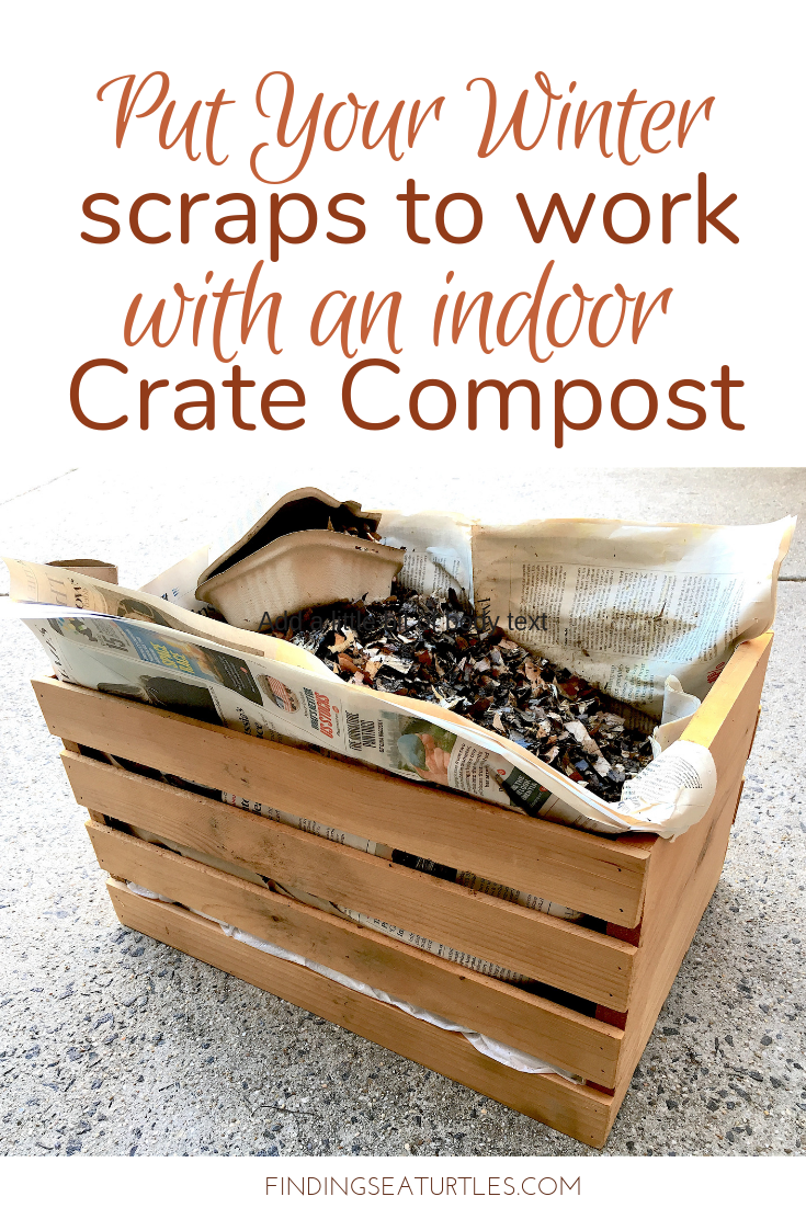 Crate Composting - Alternative for Winter or Small Space Living #gardeningtips #gardeninghacks #greengardening