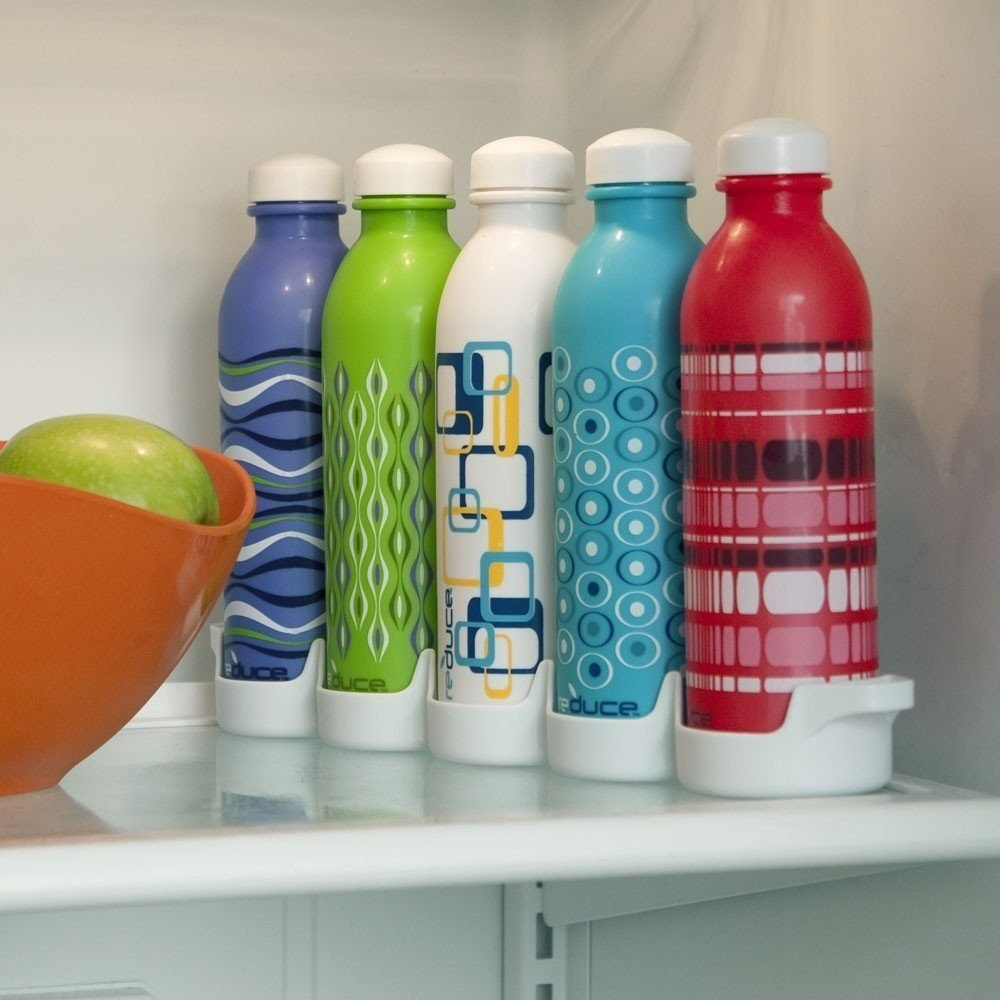 10 Mind Blowing Refrigerator Organization Hacks Reduce WaterWeek Reusable Water Bottle Set #Organize #Organization #OrganizedRefrigerator #Fridge #Refrigerator #RefrigeratorStorage #Storage #SaveTime #SaveMoney