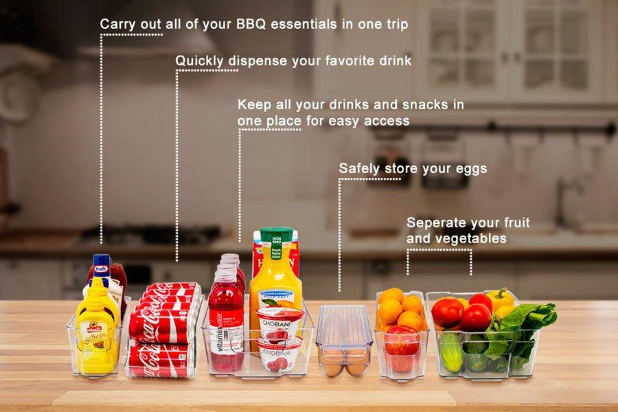 10 Mind Blowing Refrigerator Organization Hacks Sorbus Organizer Refrigerator Stackable Containers #Organize #Organization #OrganizedRefrigerator #Fridge #Refrigerator #RefrigeratorStorage #Storage #SaveTime #SaveMoney