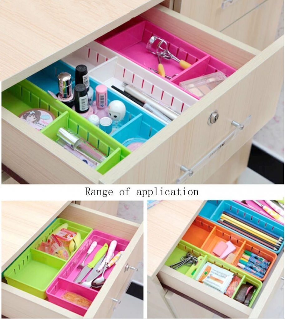 12 Life Changing Kitchen Organization Hacks Eyleer Drawer Cabinet Storage Organizer Adjustable Organizer Bins #Organization #OrganizationHacks #KitchenOrganization #KitchenOrganizationHacks #EyleerOrganization