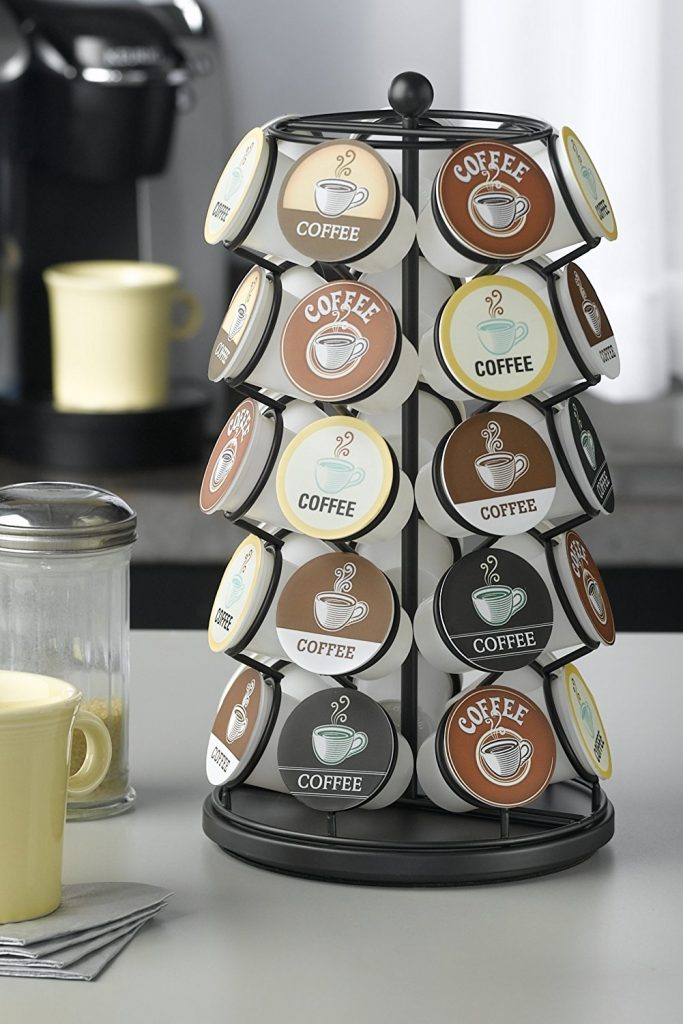 12 Life Changing Kitchen Organization Hacks Nifty K Cup Carousel 35 K Cups In Black #Nifty #Organization #OrganizationHacks #KitchenOrganization #KitchenOrganizationHacks