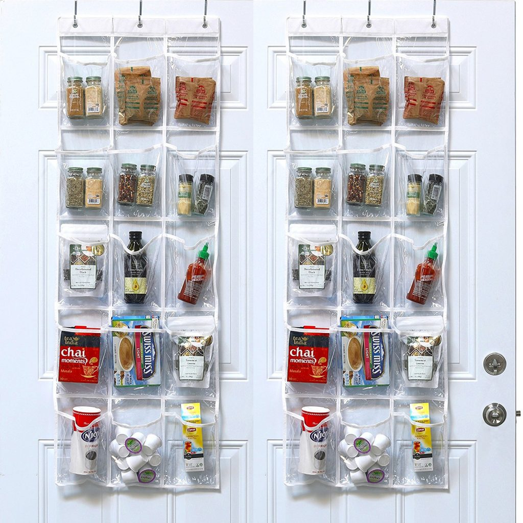 12 Life Changing Kitchen Organization Hacks Simplehouseware Crystal Clear Over The Door Hanging Pantry Organizer #Organization #OrganizationHacks #KitchenOrganization #SimpleHouseware #KitchenOrganizationHelp