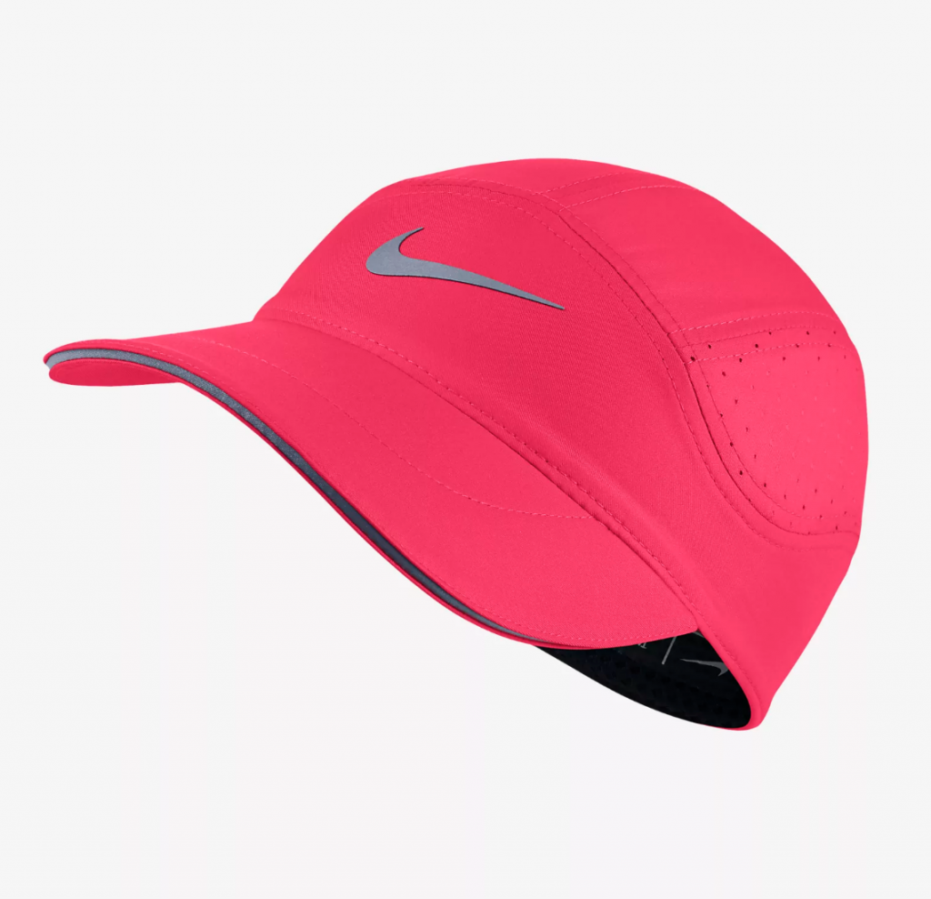 25 Pretty in Pink Gifts for Mom Nike Aerobill Womens Running Hat #NikeAeroBill #MothersDay #GiftsForMom #PinkGiftsForMom #MomsDayGifts #PrettyPinkGifts