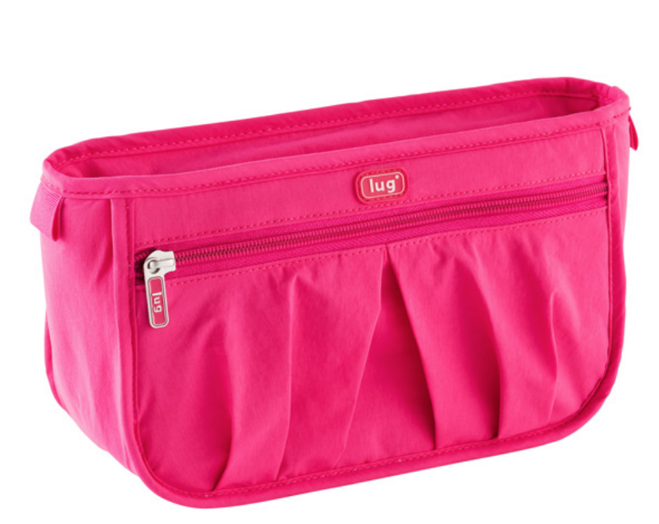25 Pretty in Pink Gifts for Mom Pink Parasail Makeup Bag #MothersDay #GiftsForMom #PinkGiftsForMom #MothersDayGifts #PrettyPinkGifts #ContainerStore