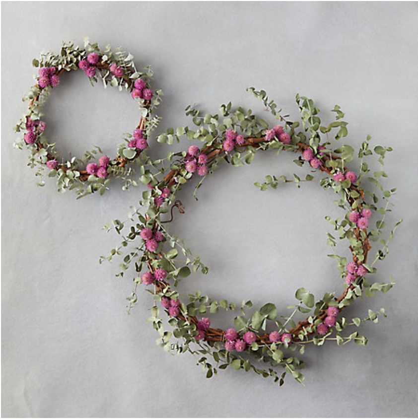 25 Pretty in Pink Gifts for Mom Globe And Eucalyptus Wreath #MothersDay #GiftsForMom #PinkGiftsForMom #MothersDayGifts #Terrain #PrettyPinkGifts