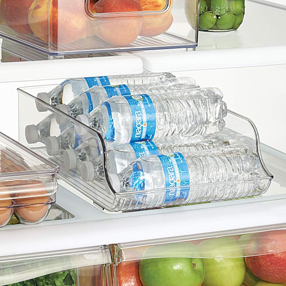 10 Mind Blowing Refrigerator Organization Hacks InterDesign Refrigerator Bottle Holder #Organize #Organization #OrganizedRefrigerator #Fridge #Refrigerator #RefrigeratorStorage #Storage #SaveTime #SaveMoney