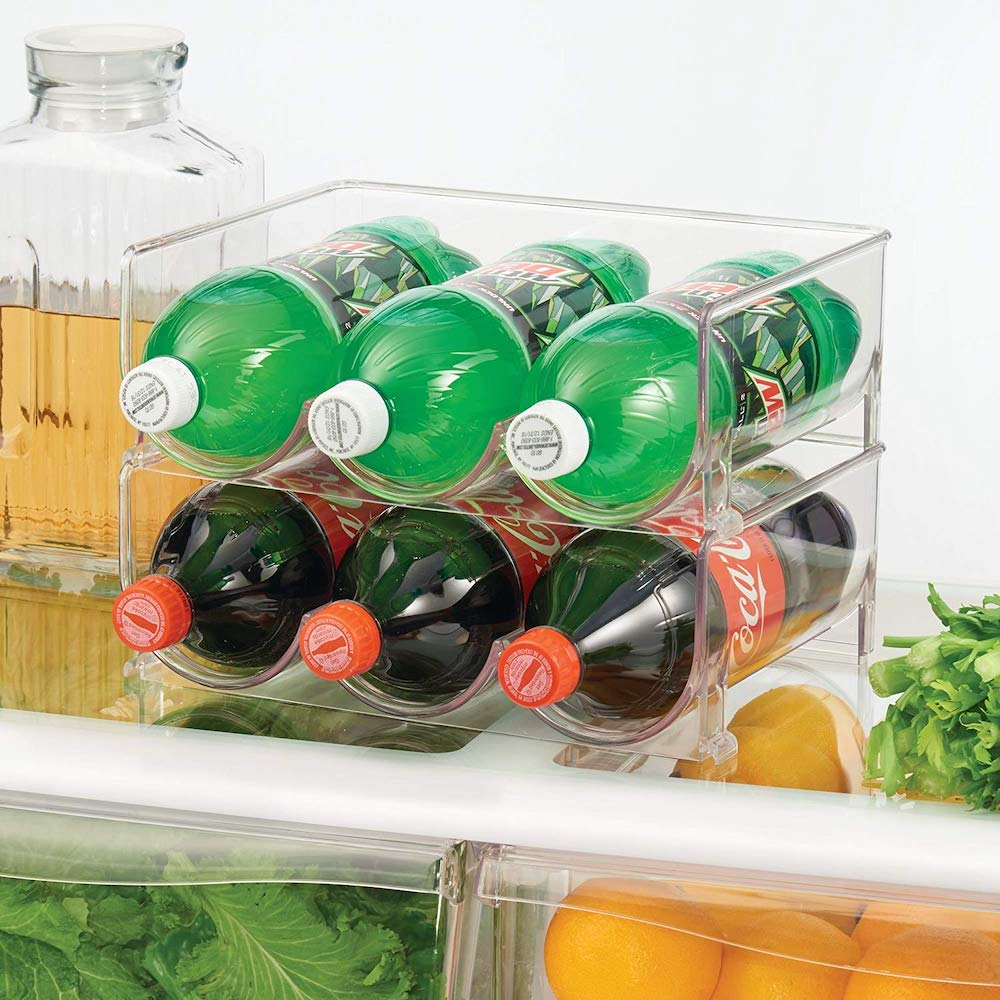 10 Mind Blowing Refrigerator Organization Hacks Stackable Vertical Standing Bottle Stand #Organize #Organization #OrganizedRefrigerator #Fridge #Refrigerator #RefrigeratorStorage #Storage #SaveTime #SaveMoney