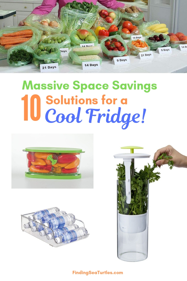 Massive Space Savings 10 Solutions For A Cool Fridge! #Organize #Organization #OrganizedRefrigerator #Fridge #Refrigerator #RefrigeratorStorage #Storage #SaveTime #SaveMoney