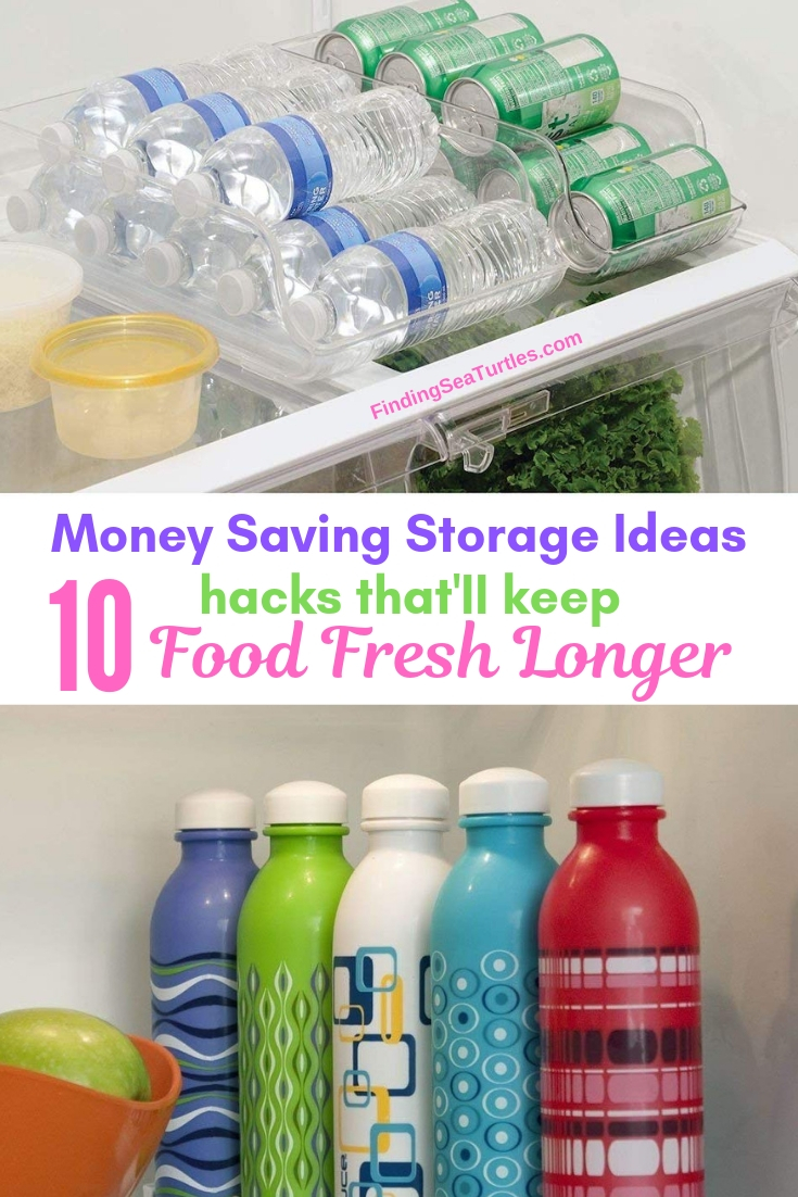 Money Saving Storage Ideas 10 Hacks That'll Keep Food Fresh Longer #Organize #Organization #OrganizedRefrigerator #Fridge #Refrigerator #RefrigeratorStorage #Storage #SaveTime #SaveMoney