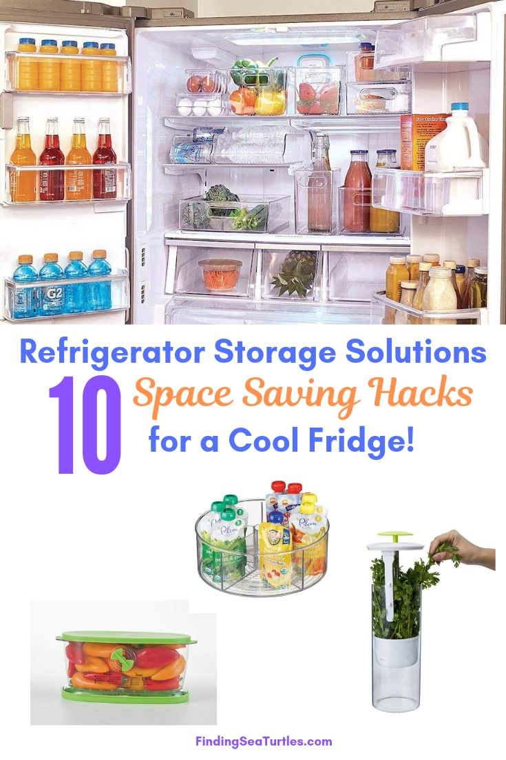 Refrigerator Storage Solutions 10 Space Saving Hacks For A Cool Fridge #Organize #Organization #OrganizedRefrigerator #Fridge #Refrigerator #RefrigeratorStorage #Storage #SaveTime #SaveMoney