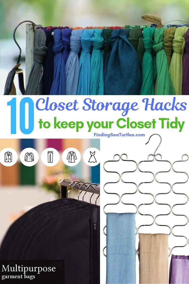 10 Closet Storage Hacks To Keep Your Closet Tidy #Organize #Organization #OrganizedCloset #OrganizeClothes #Closet #ClosetStorage #Storage #SaveTime #SaveMoney