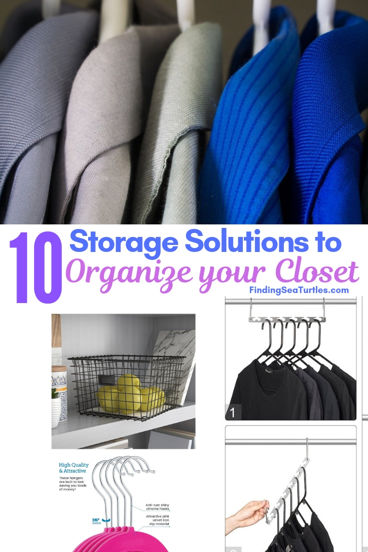 10 Storage Solutions To Organize Your Closet #Organize #Organization #OrganizedCloset #OrganizeClothes #Closet #ClosetStorage #Storage #SaveTime #SaveMoney
