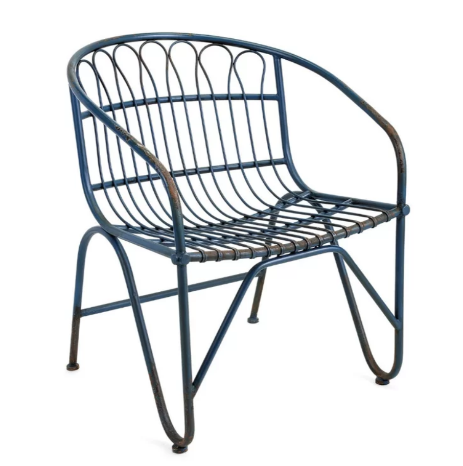 8 Cool Patio Chairs Tapia Metal Dining Chair #OutdoorLiving #Patio #Porch #Balcony #SmallSpaceLiving #Wayfair