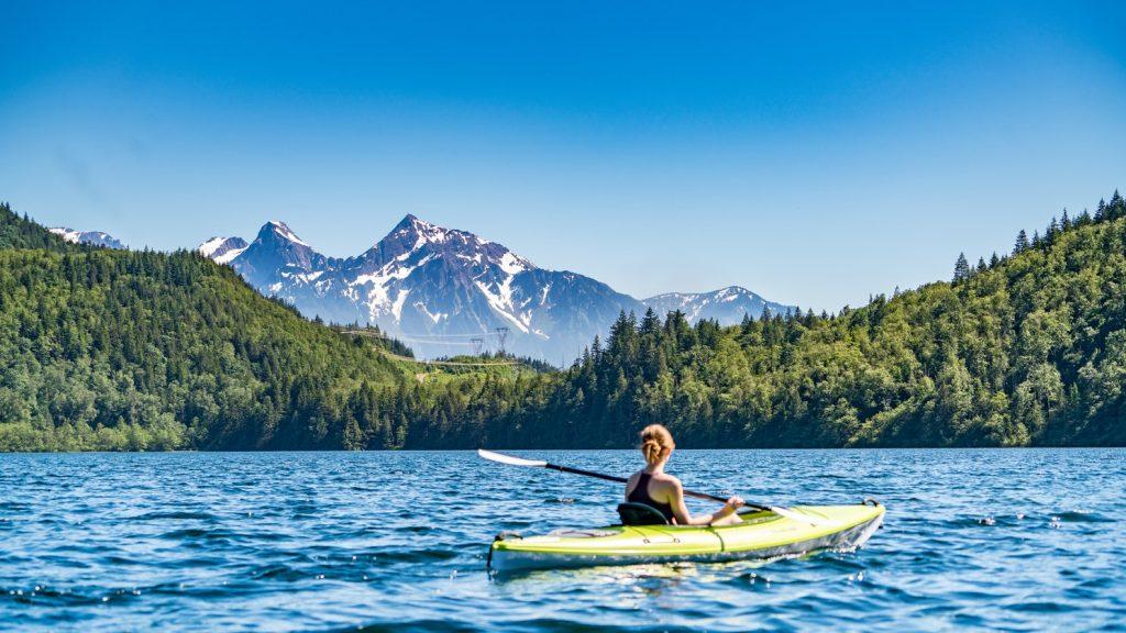 12 Budget Friendly Outdoor Summer Activities Kayaking (photo Jeff Isaak) #BudgetFriendly #Kayaking #LLBean #SummerOutdoorActivities #SummerFun